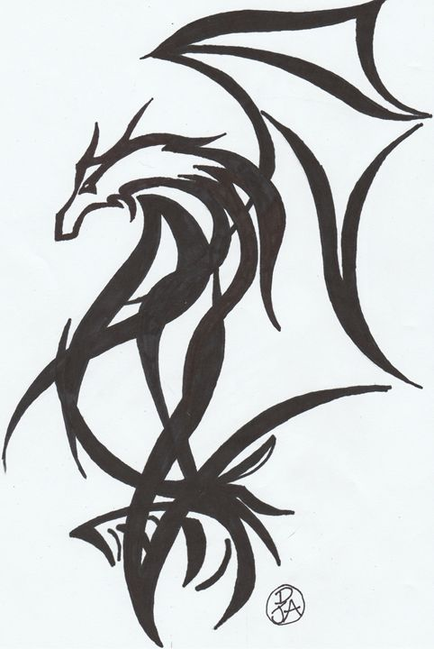 Tribal Dragon - Day Dream Designs