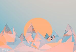 Mountains at sunset