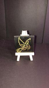 Arabic Calligraphy Bird Canvas
