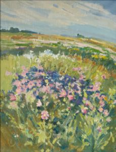 Flowers. The Blossoming Meadow