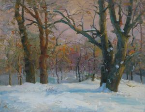 Winter in the wood