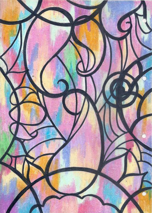 Pastel wall - F.K's Galleria Extravaganza