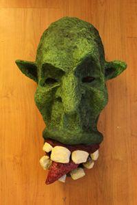 Troll Mask | Paper Mache - Papyromancer