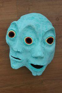 Polycephalic Ghost Mask | Paper Mask