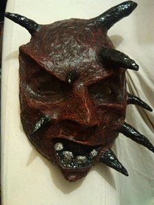 Red Demon Mask | Paper Mache Mask