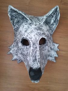 Ghost Wolf Mask | Paper Mache Mask
