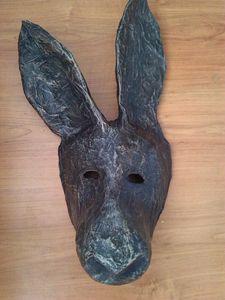 Donkey Mask | Paper Mache Mask - Papyromancer