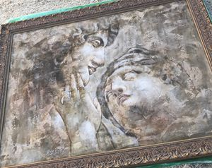 Ancient Roman Textured Painting