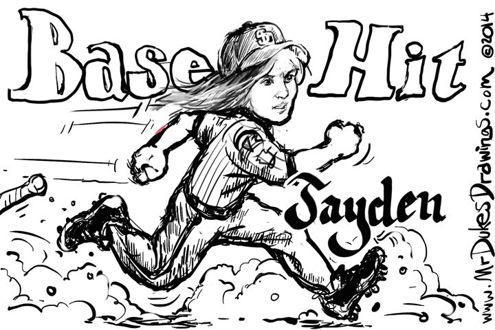 Jayen Base Hit - MrDukesDrawings