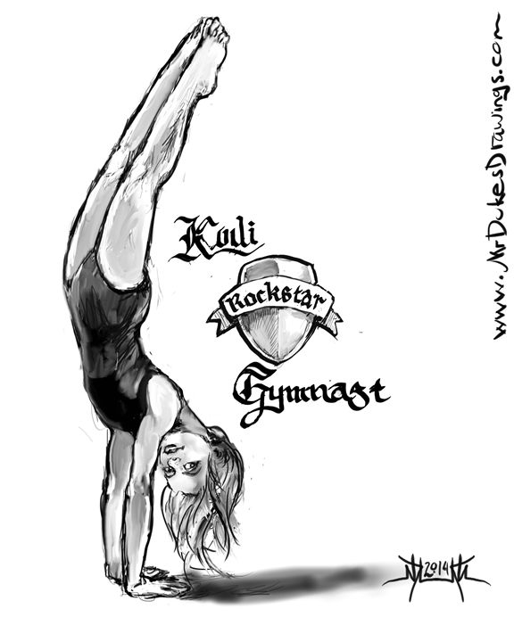 Kodi Rockstar Gymnast - MrDukesDrawings