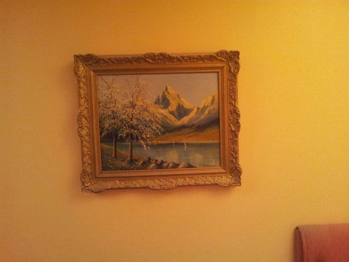 Lakeside River Mountain - Light-Emmitting artwork