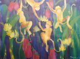 Original Watercolor on Silk painting
