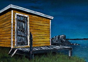 """Old fishing Shack"" print"