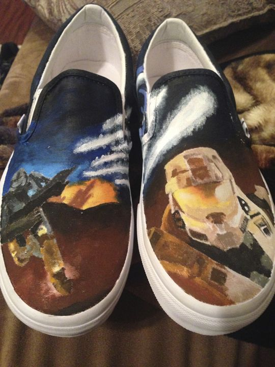 Halo Hand painted shoes - Gabrielle Johnson