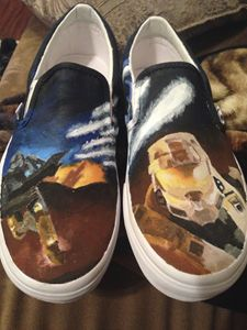 Halo Hand painted shoes