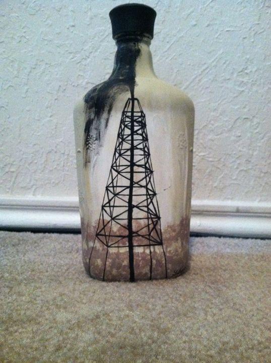Oil derrick bottle - Gabrielle Johnson