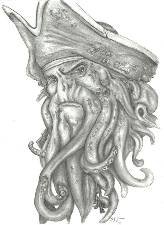 Davy Jones Portrait - Mistryss C's Arts