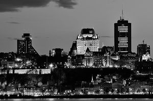 Quebec vue de nuit