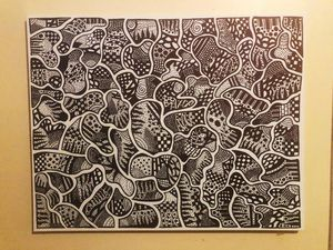"""Mind Games"" Abstract Drawing"