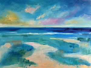 Abstract Ocean Painting, Seascape