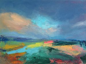 Abstract Landscape Painting ArtPrint