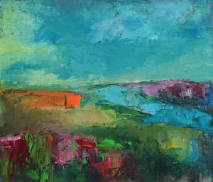 Abstract Countryside Landscape