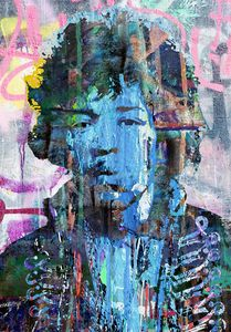 Jimi Hendrix pop art portrait