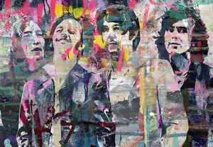The Beatles pop art portrait