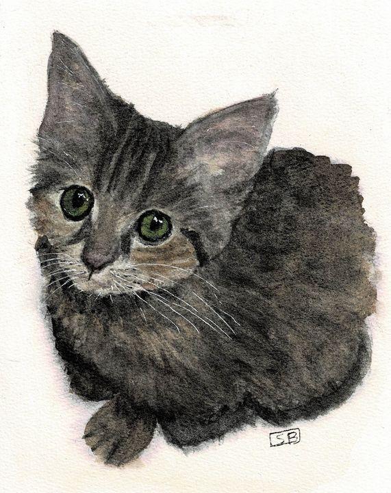 Fluffy Kitty - Susan Burns