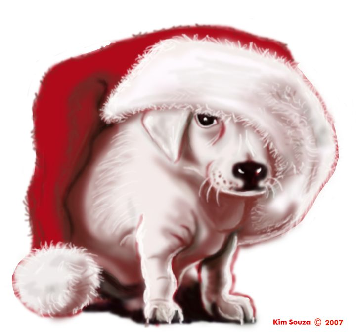 Christmas Pup - Kim Souza Artist