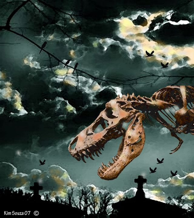 T-Rex Graveyard - Kim Souza Artist