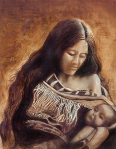 Native mother and child