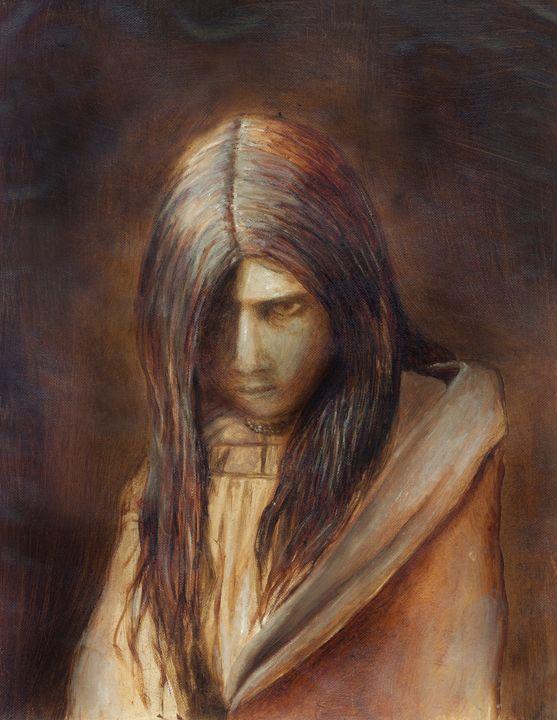 Native Girl - Art by Kat