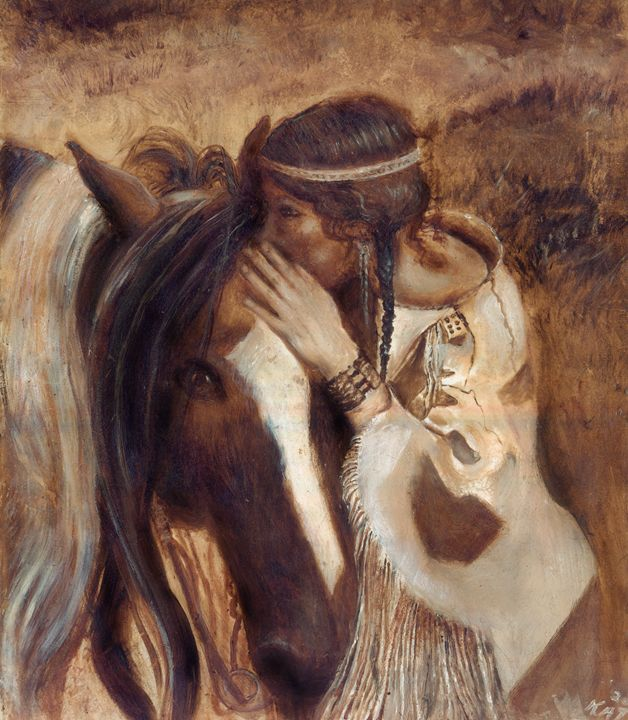 Horse Whisperer - Art by Kat