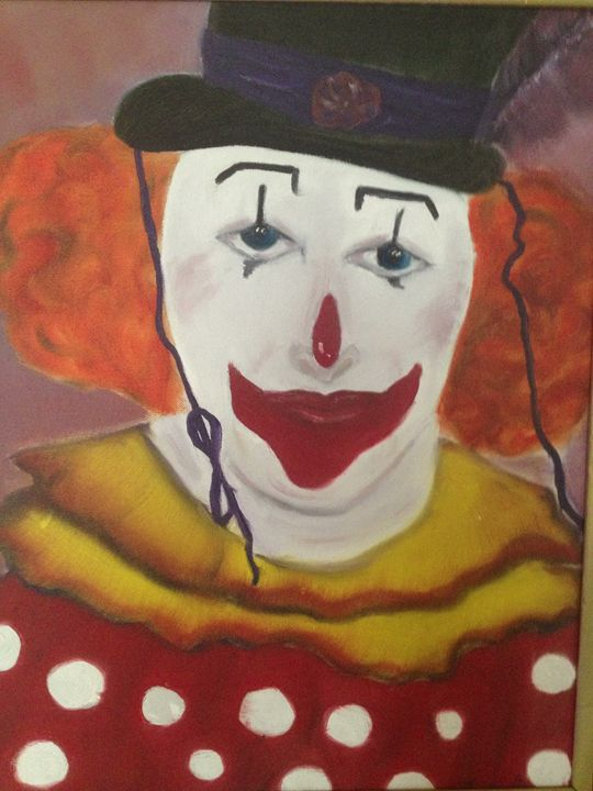 Man in clown suit - Art by Farah