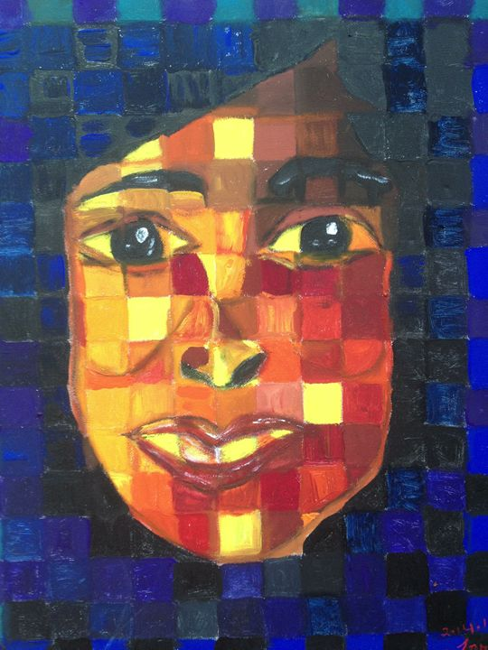 Woman in Cubism - Art by Farah