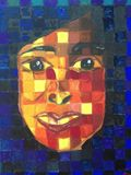 Original Gouache Cubism Painting