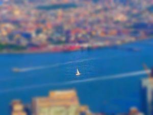 NYC sailboat