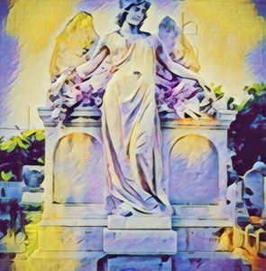 Angel in Cemetery Historical - Castle Design Graphics