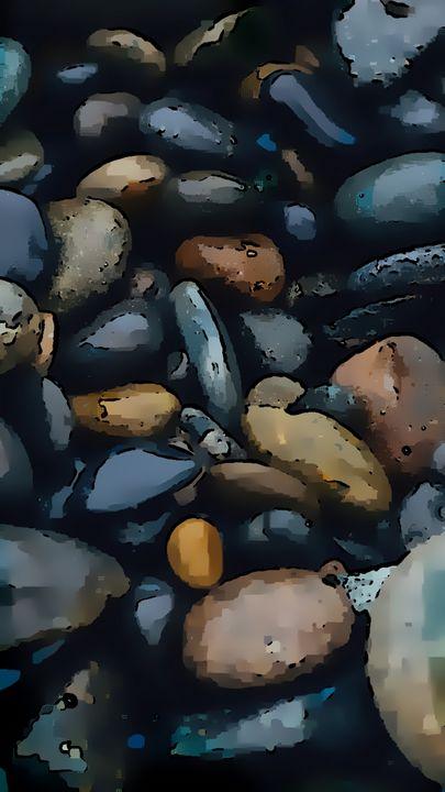 Blue Mystical Stones in Blue - Castle Design Graphics