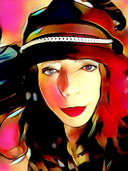 Portrait Woman Urban Bright Print - Castle Design Graphics
