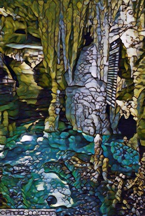 Beautiful Blue Cavern - Castle Design Graphics