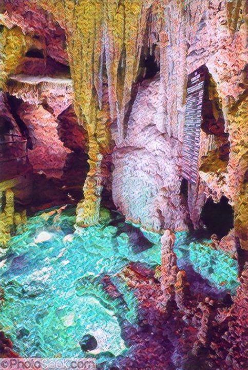 Beautiful Pastel Cavern - Castle Design Graphics