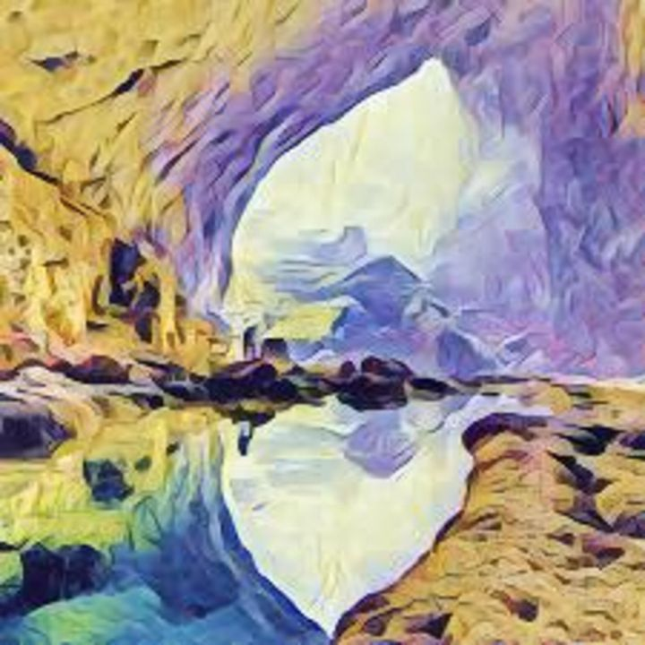 Beautiful Yellow and Lavender Cave L - Castle Design Graphics