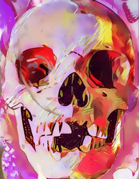 Pink Skull Spooky - Castle Design Graphics