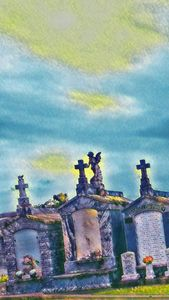 St James Cemetery in pastel
