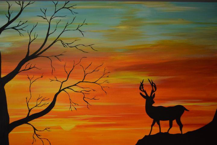 Deer at dusk - Jimmy Cheema