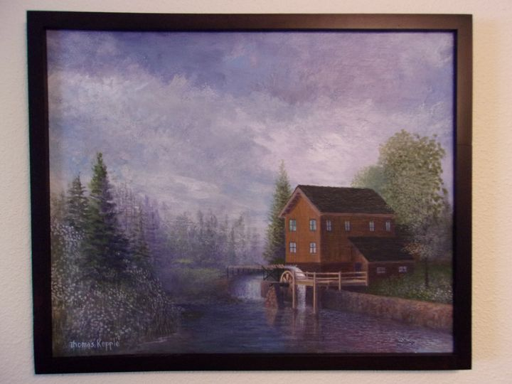 """Hillside Mill"" - Tom's Original Art"