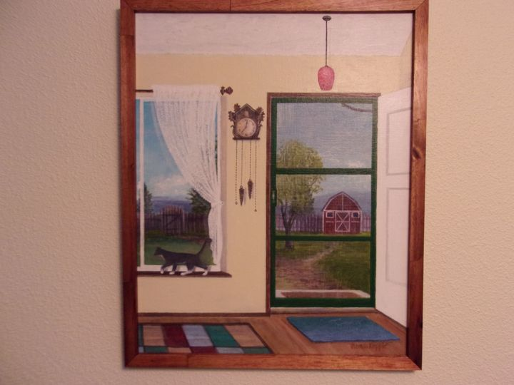 """Tootsie's View"" - Tom's Original Art"