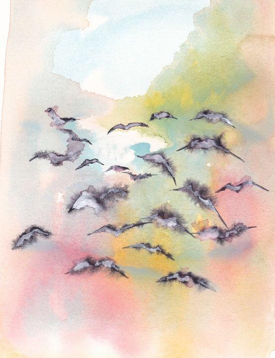 Flying away - Robert Czibi Art